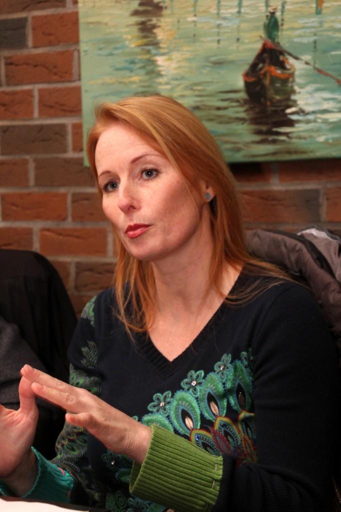 Katja Raab, FDP Direktkandidatin am 29.2.2016 im Bernburger Montagsforum