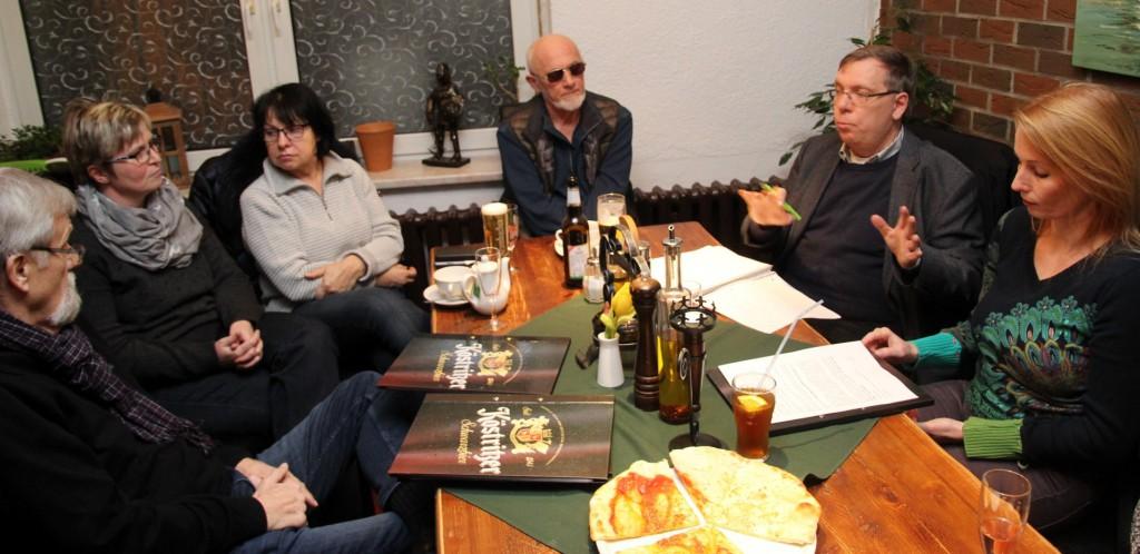 Teilnehmer des Gesprächs mit Katja Raab am 29,2,2016