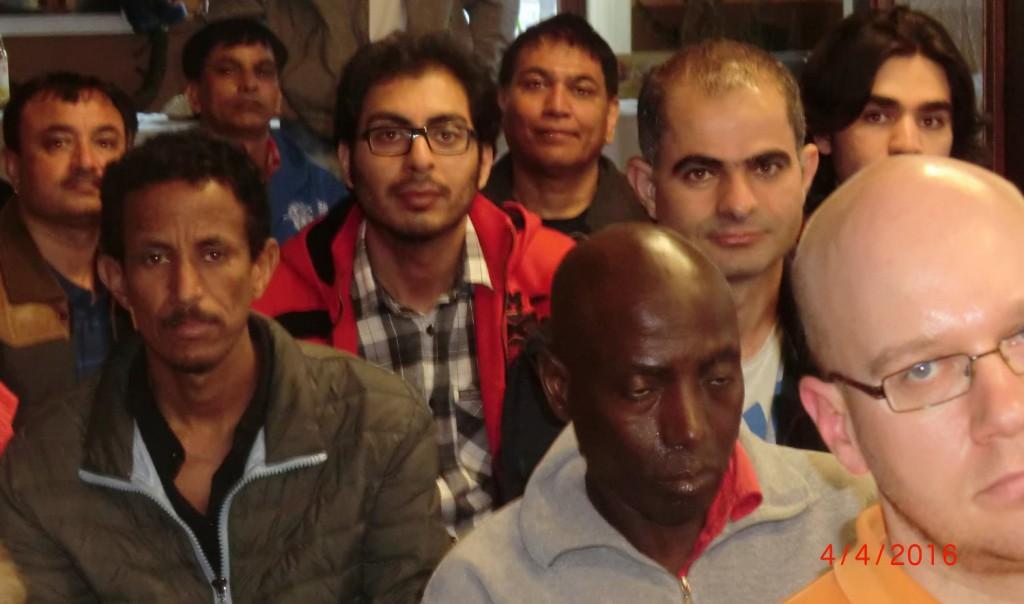 Teilnehmer, hier aus mehr als fünf Nationen